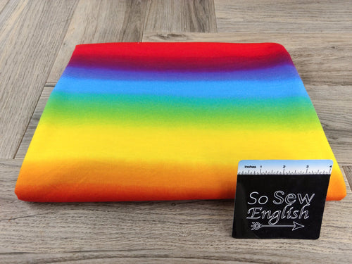 Bold RAINBOW OMBRE -French Terry- By the yard