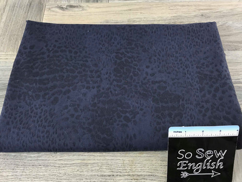 Navy ANIMAL PRINT -Supplex Performance -By The Yard