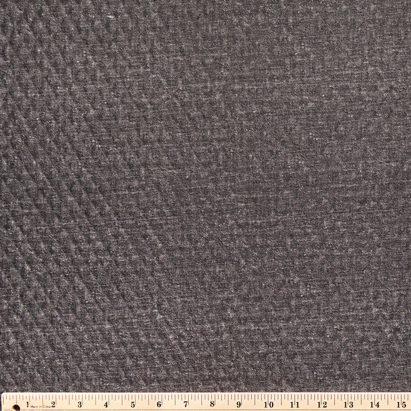 Black LARGE -Quilted Knit - By the yard