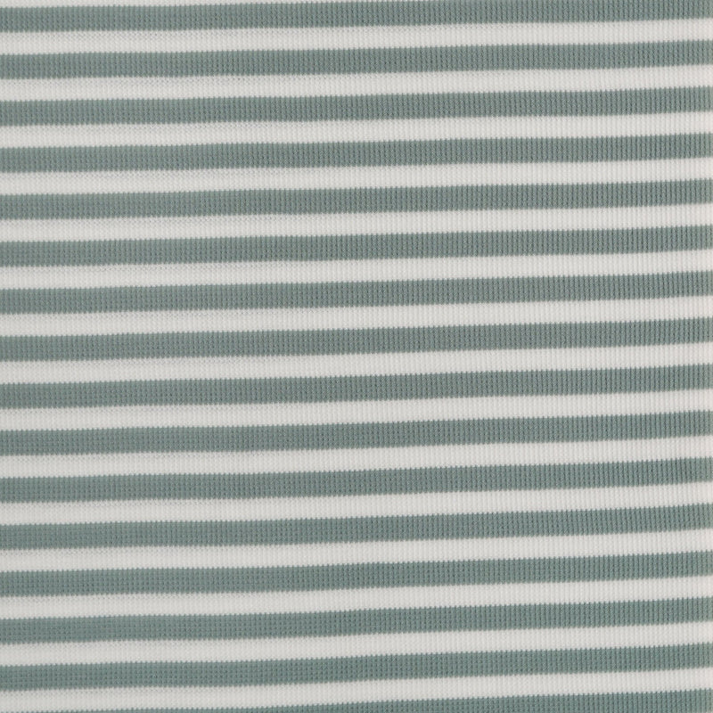 "Sage 1/2"" STRIPE - Thermal Knit - By the yard"