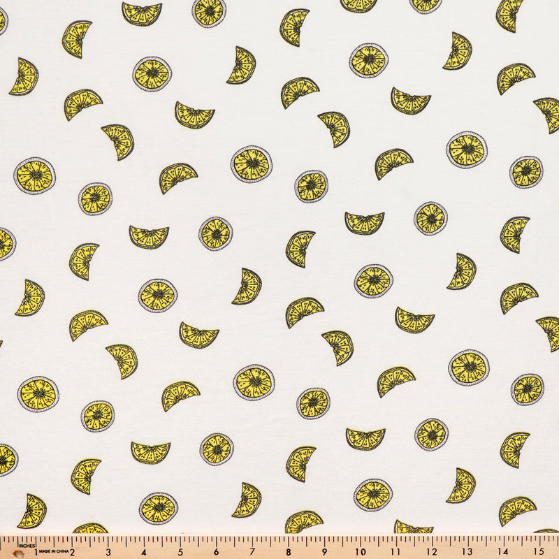 "LEMONS - ""Cotton Style Jersey"" - By The Yard"