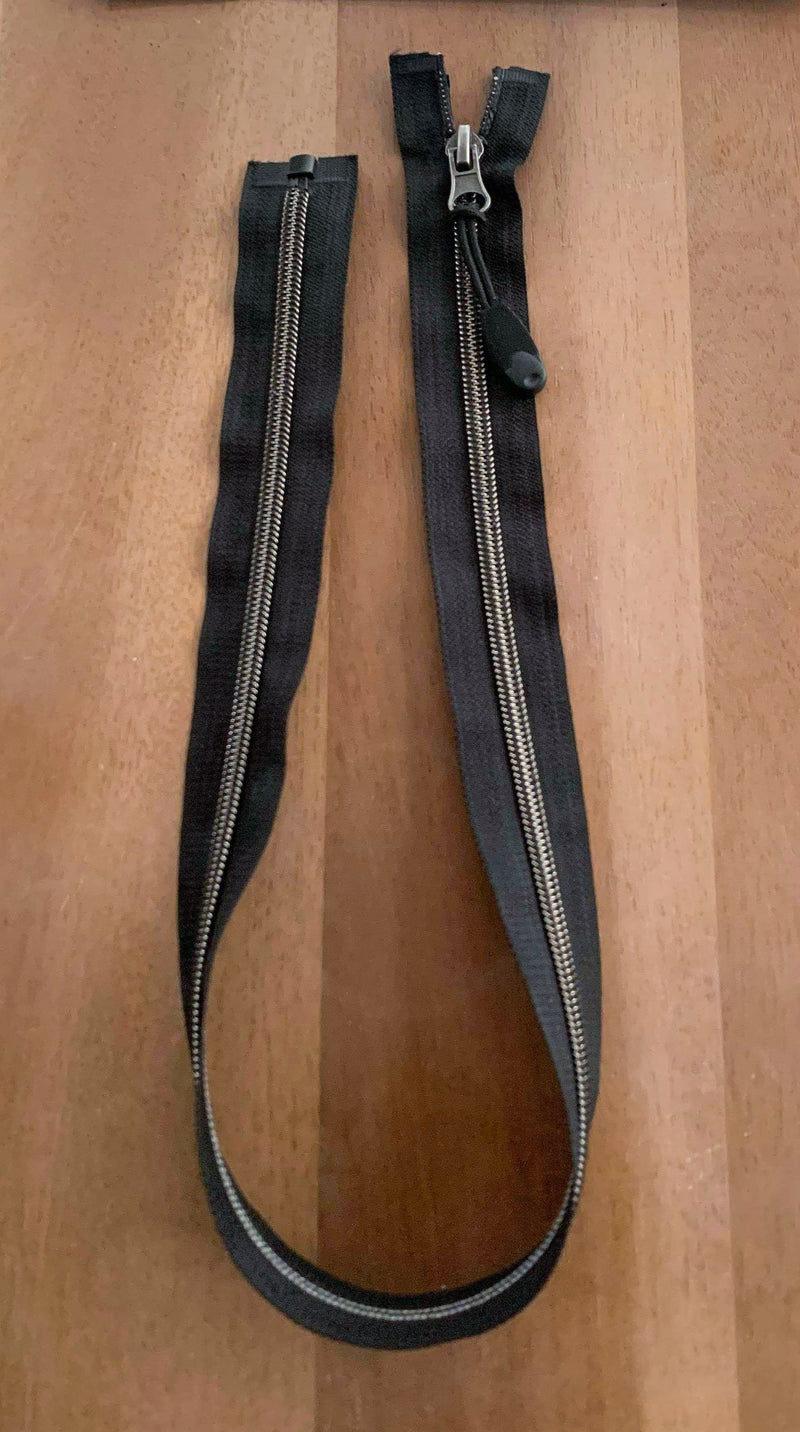 "Black - 28"" Separating ZIPPER with Pull Attachment - Sold Individually"