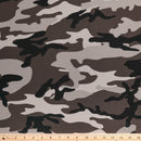 Grey CAMO - Crepe Scuba Knit -By The Yard