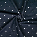 NAVY POLKA DOTS - SUPER PLUSH - By the yard
