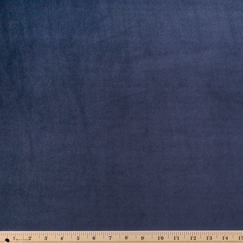 Solid Navy - VELVET PLUSH - By the yard