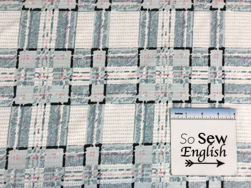 Type-plaid Allusion -Art Gallery Cotton Spandex -By The Yard