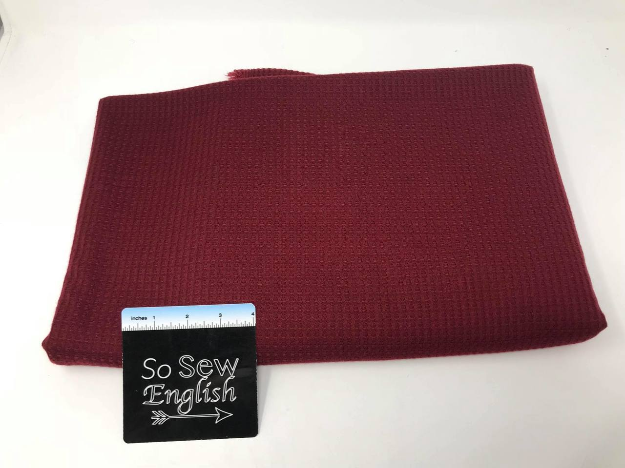 Solid Ruby THERMAL  - THERMAL Knit - By the yard