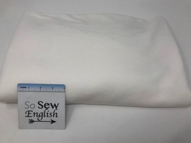 Ivory BRUSHED FT - Poly Rayon Spandex French Terry- By the yard