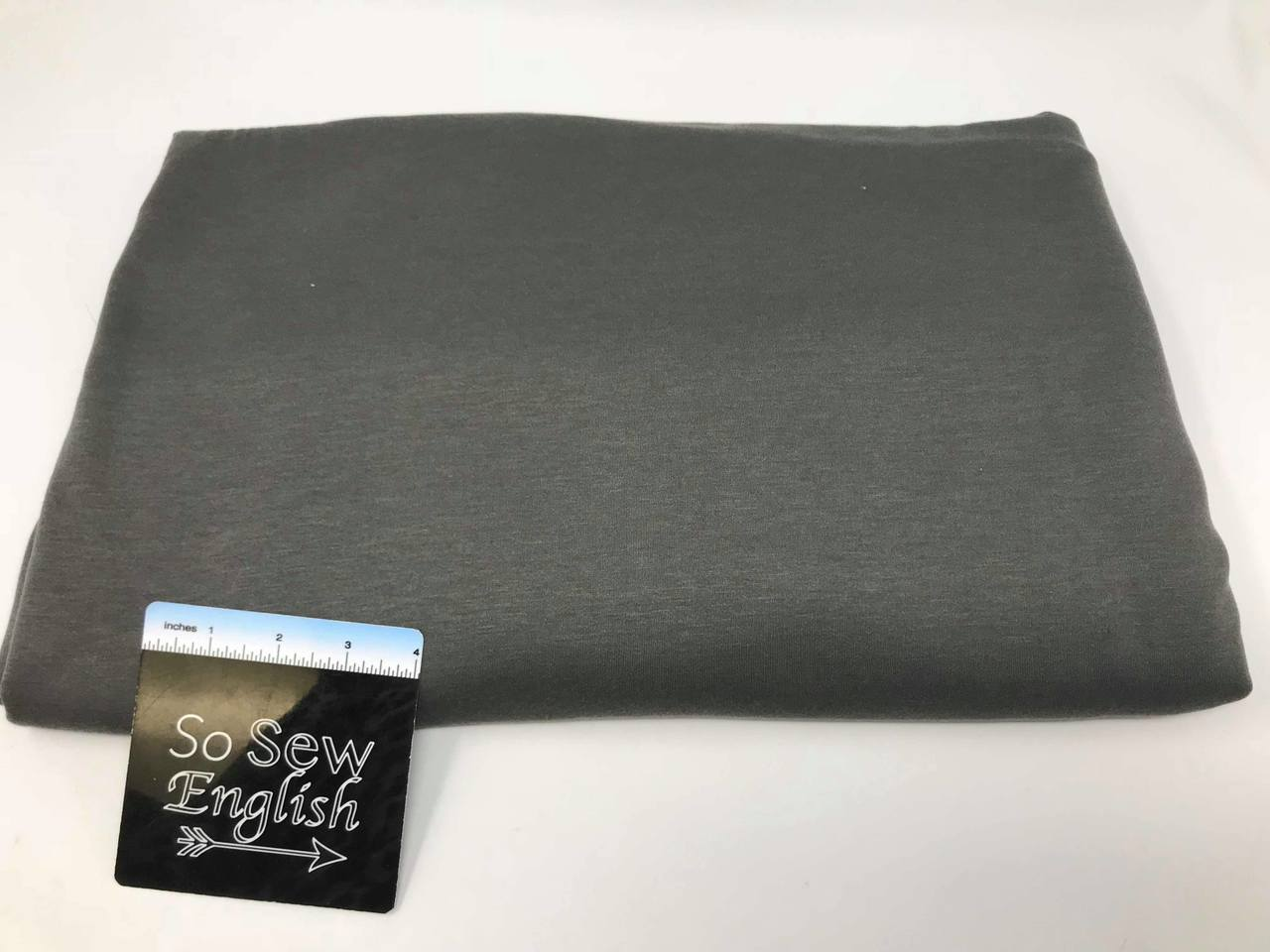 Olive BRUSHED FT - Poly Rayon Spandex French Terry- By the yard