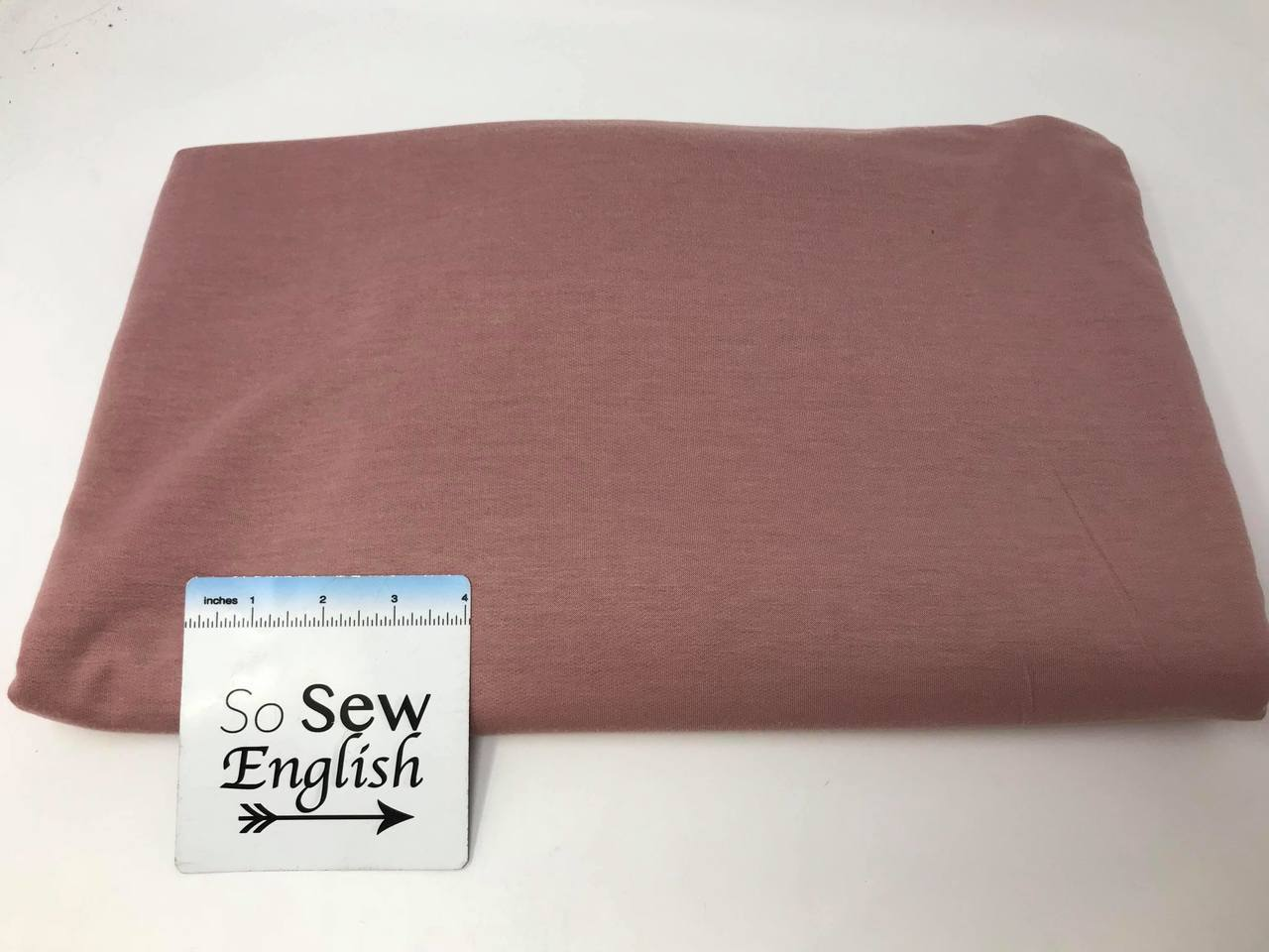 Solid DARK MAUVE  -Poly Rayon Spandex  French Terry - By the yard