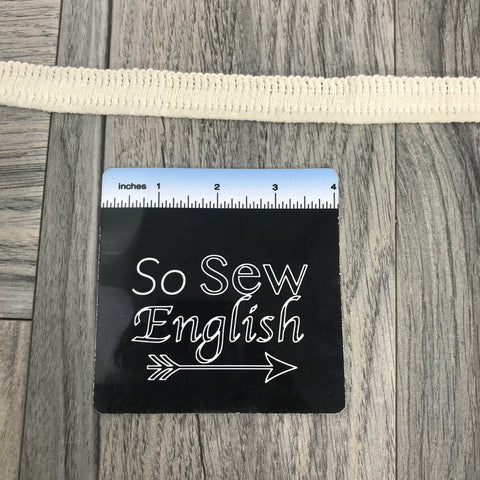 "Black ""Measuring Tape"" Print - Grossgrain Tape- Sold by the yard"