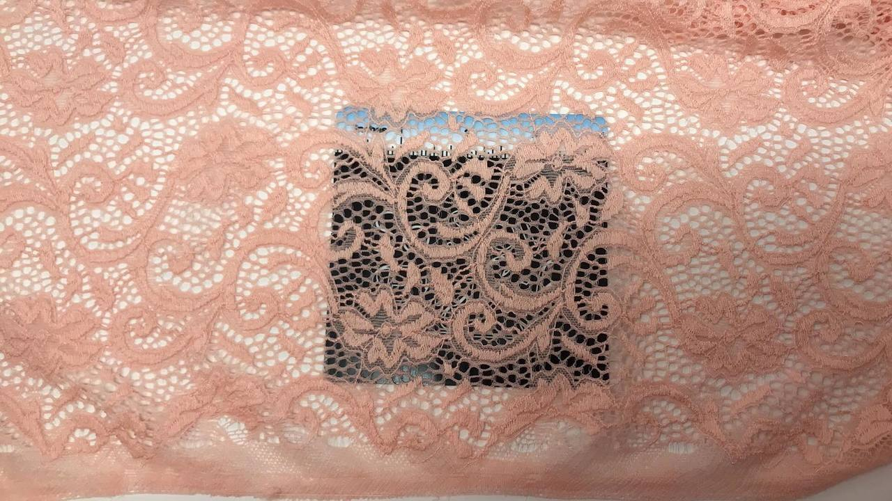 Blush- Stretch Lace -By the yard