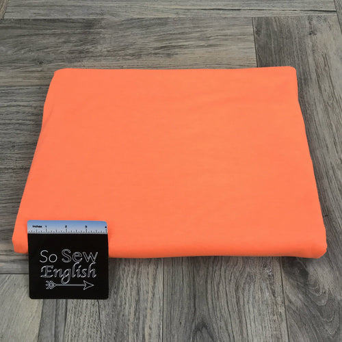 Solid NEON ORANGE- Poly Rayon Spandex -By the yard