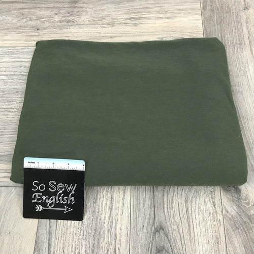 Solid OLIVE- Poly Rayon Spandex -By the yard