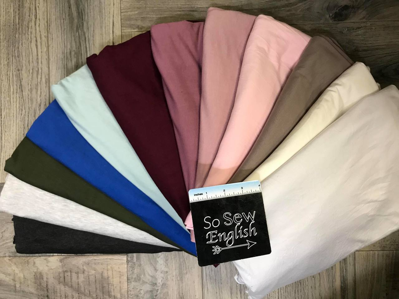 Solid- ROYAL- 220gsm Modal Spandex - By the yard