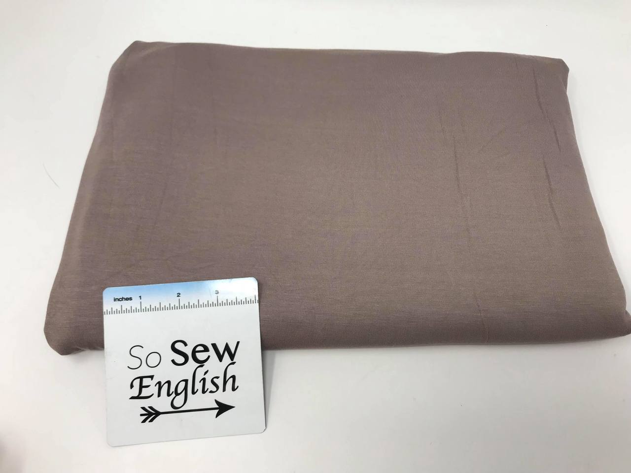 Solid TAUPE 220gsm Modal Spandex