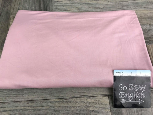 Solid DUSTY ROSE - 250gsm Modal Spandex - By the yard