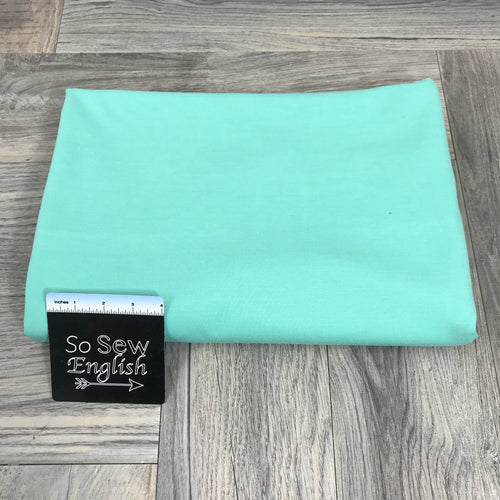 Solid SEAFOAM - PONTE Knit - By The Yard
