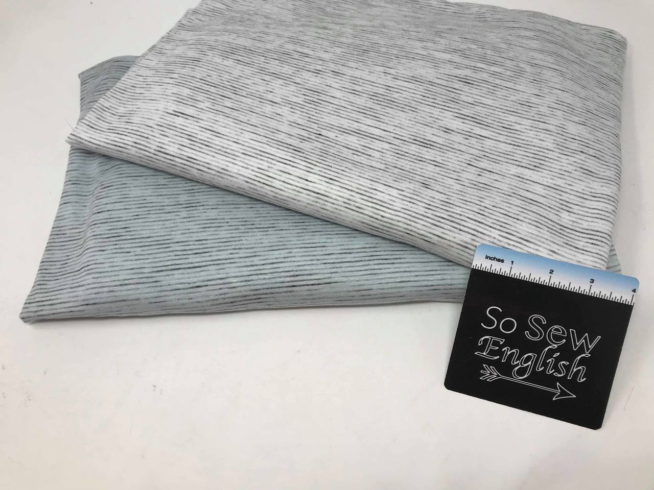 Ivory/Charcoal Winter Space Dye - Rayon Spandex -By the yard