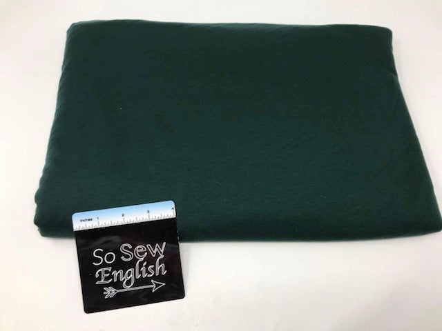 FT Solid HUNTER GREEN -Poly Rayon Spandex  French Terry - By the yard