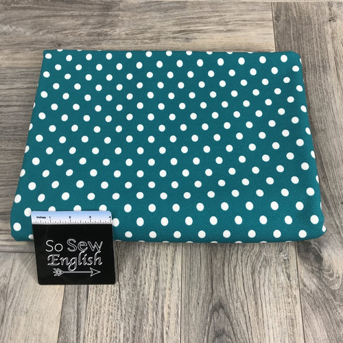 Jade/Ivory POLKA DOT  - LIVERPOOL Knit - By the yard