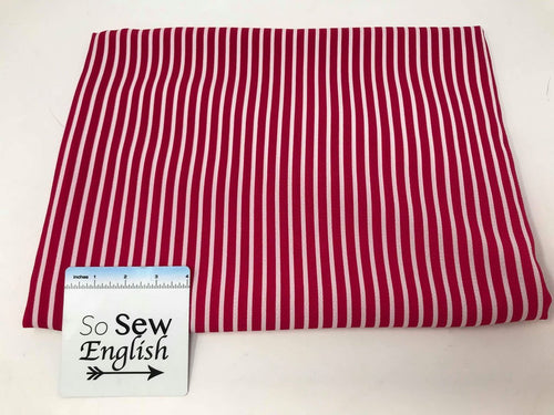 Fuchsia VERTICAL STRIPE - Crepe WOVEN - By the yard