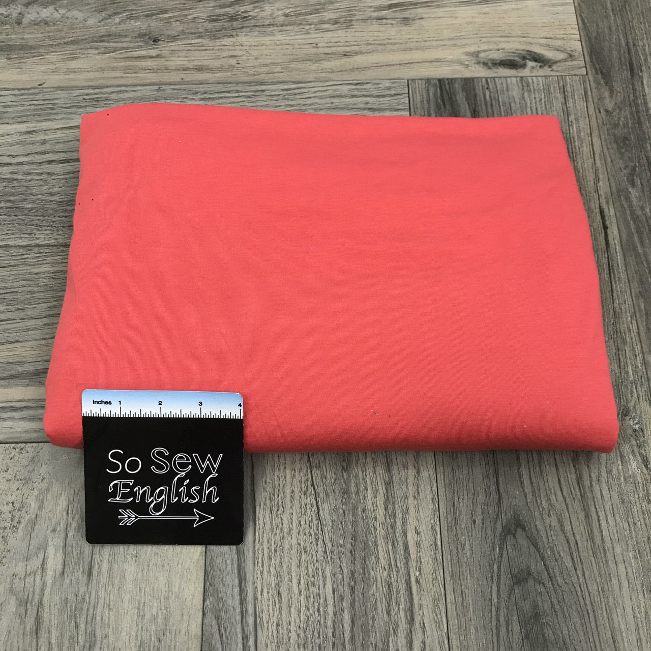 Solid CORAL - Poly Rayon Spandex -By the yard