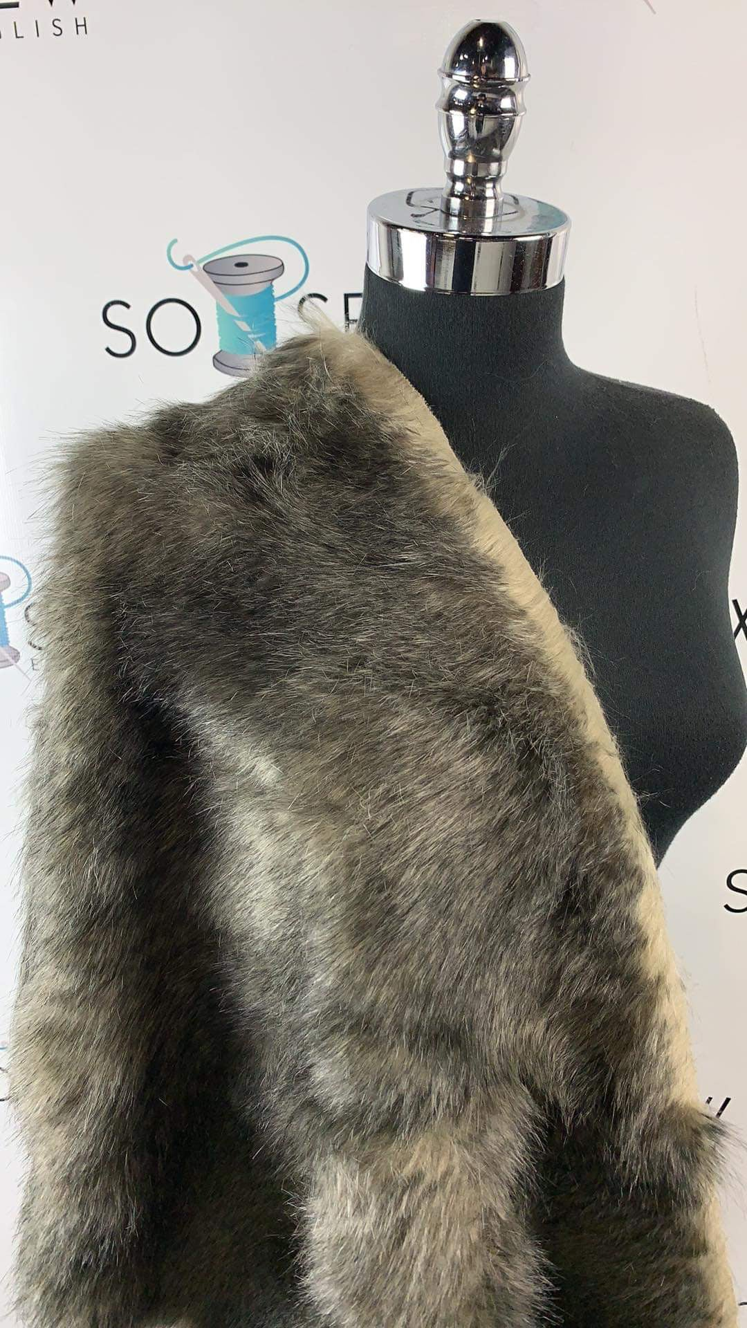 Grey Wolf - Luxury Faux Fur - By The Yard