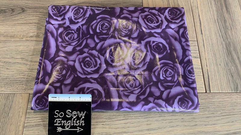 Purple Rose Foil - Performance - By The Yard