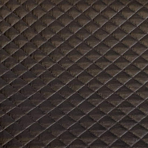 Black Foil - Quilted Knit - By the yard