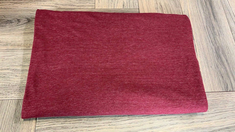 Burgundy Cat Stripe -Wool Dobby Woven- By the yard