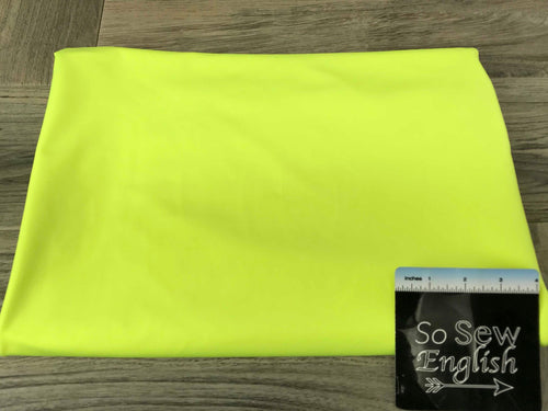 Solid NEON YELLOW- Yoga Performance -By The Yard
