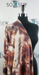Earth Tones Tie Dye - Brushed Hacci - By The Yard