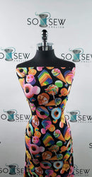 SUGAR RUSH- Double Brushed Poly Spandex -By The Yard