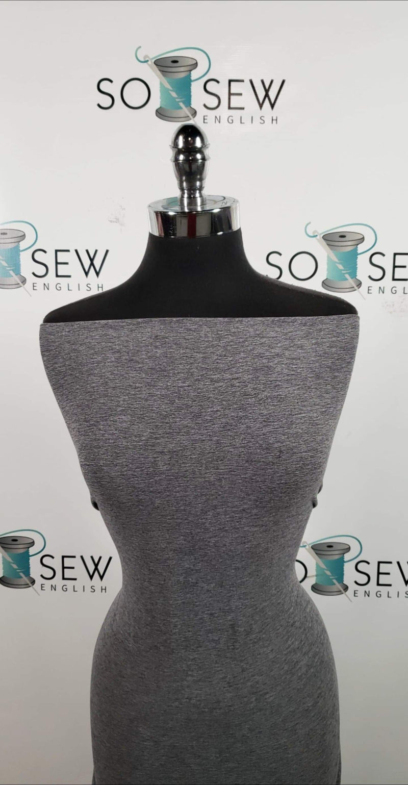 Charcoal 2 Tone - Double Brushed Poly Spandex -By The Yard