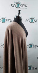 Solid Taupe -Brushed Sandwashed Rib Knit - By The Yard