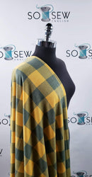 READY CUT: 2YD Gold/Green BUFFALO PLAID FT :RC511