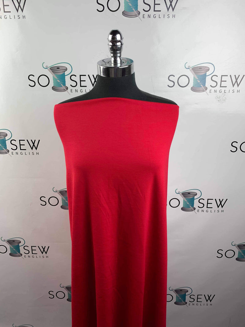 Solid RED - NYLON PONTE  - By The Yard