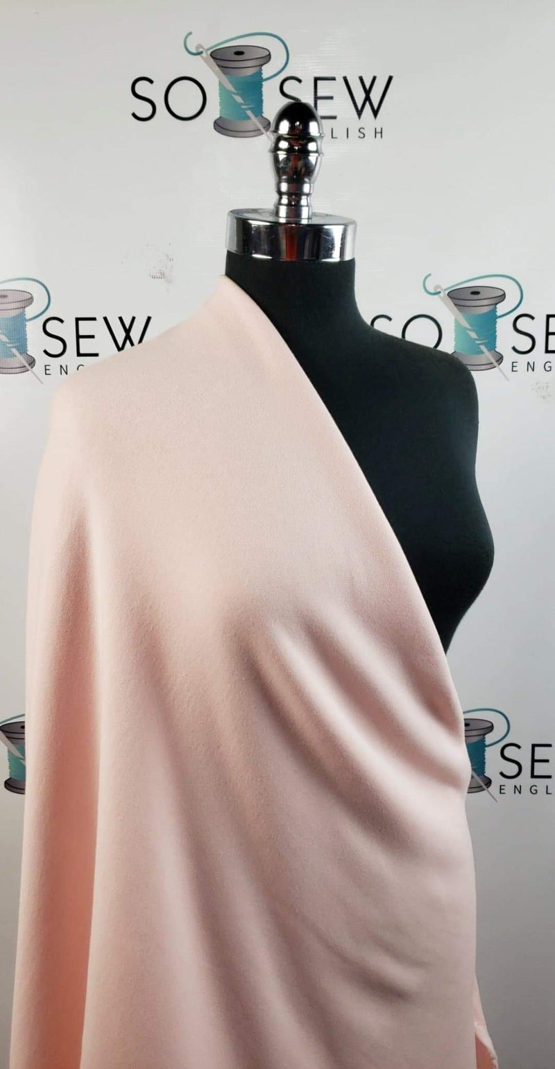 Solid Light Pink - Brushed Loop Terry - By the yard