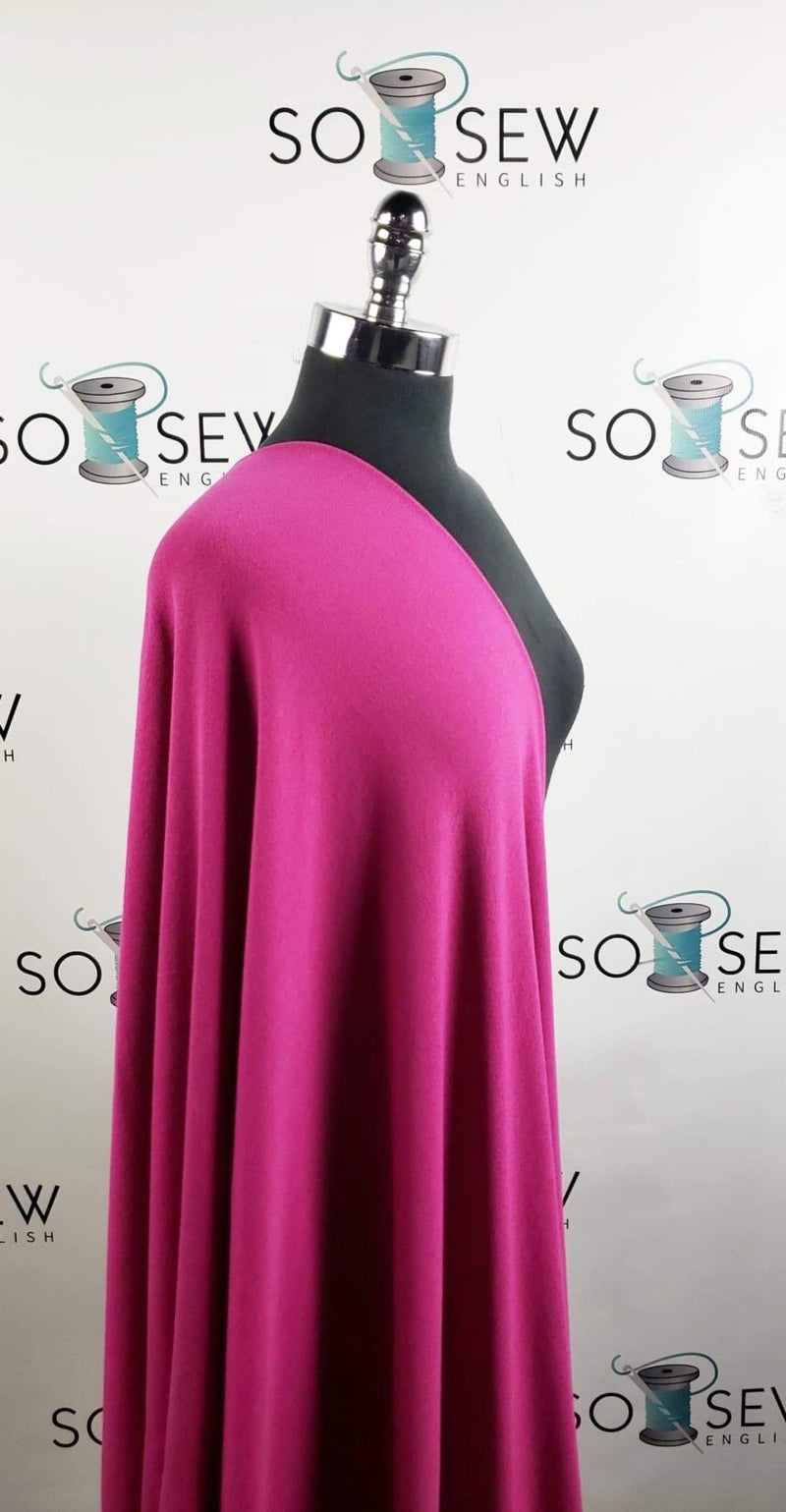 Solid Magenta - Light Sweater Knit - By The Yard