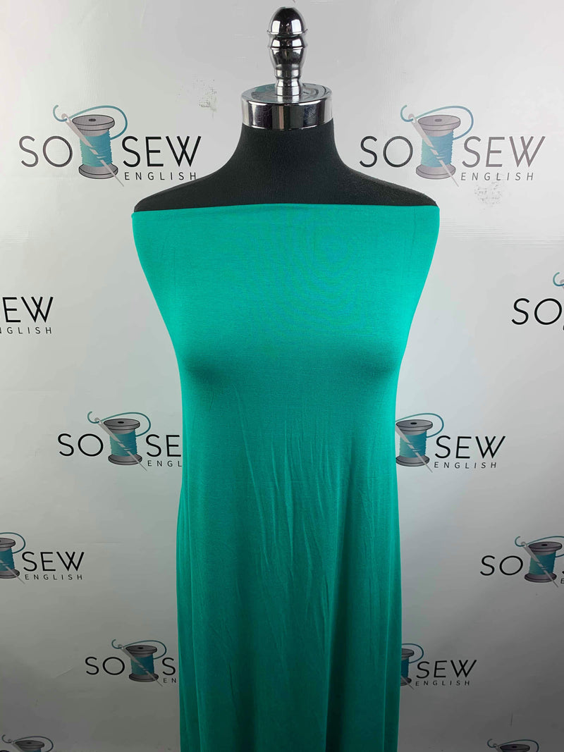 Solid JADE- Rayon Spandex -By the yard