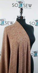 Rust 2 Tone Ribbed - Sweater Knit - By The Yard