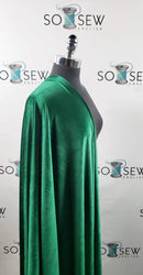 Solid Kelly Green - VELVET - By the yard