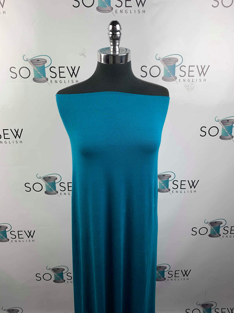 Solid TURQUOISE- Rayon Spandex -By the yard