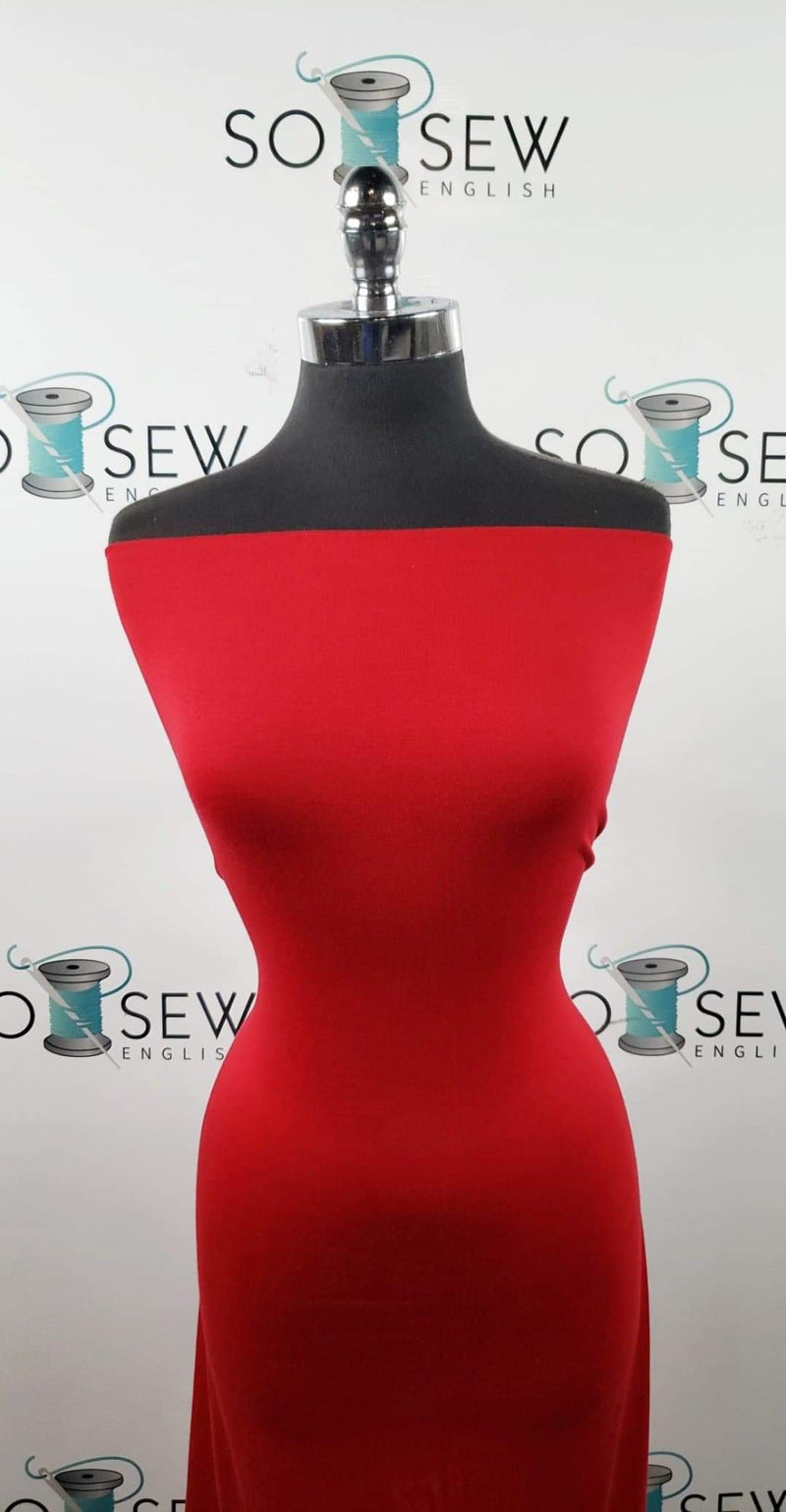 Solid Red - 1X1 Rib Modal - By the yard