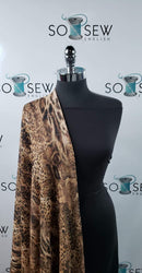 Brown Leopard - Loose Sweater Knit - By The Yard