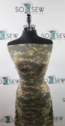 Olive DIGITAL CAMO- Double Brushed Poly Spandex -By The Yard