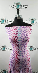 Orchid Ombre Leopard - Double Brushed Poly Spandex -By The Yard