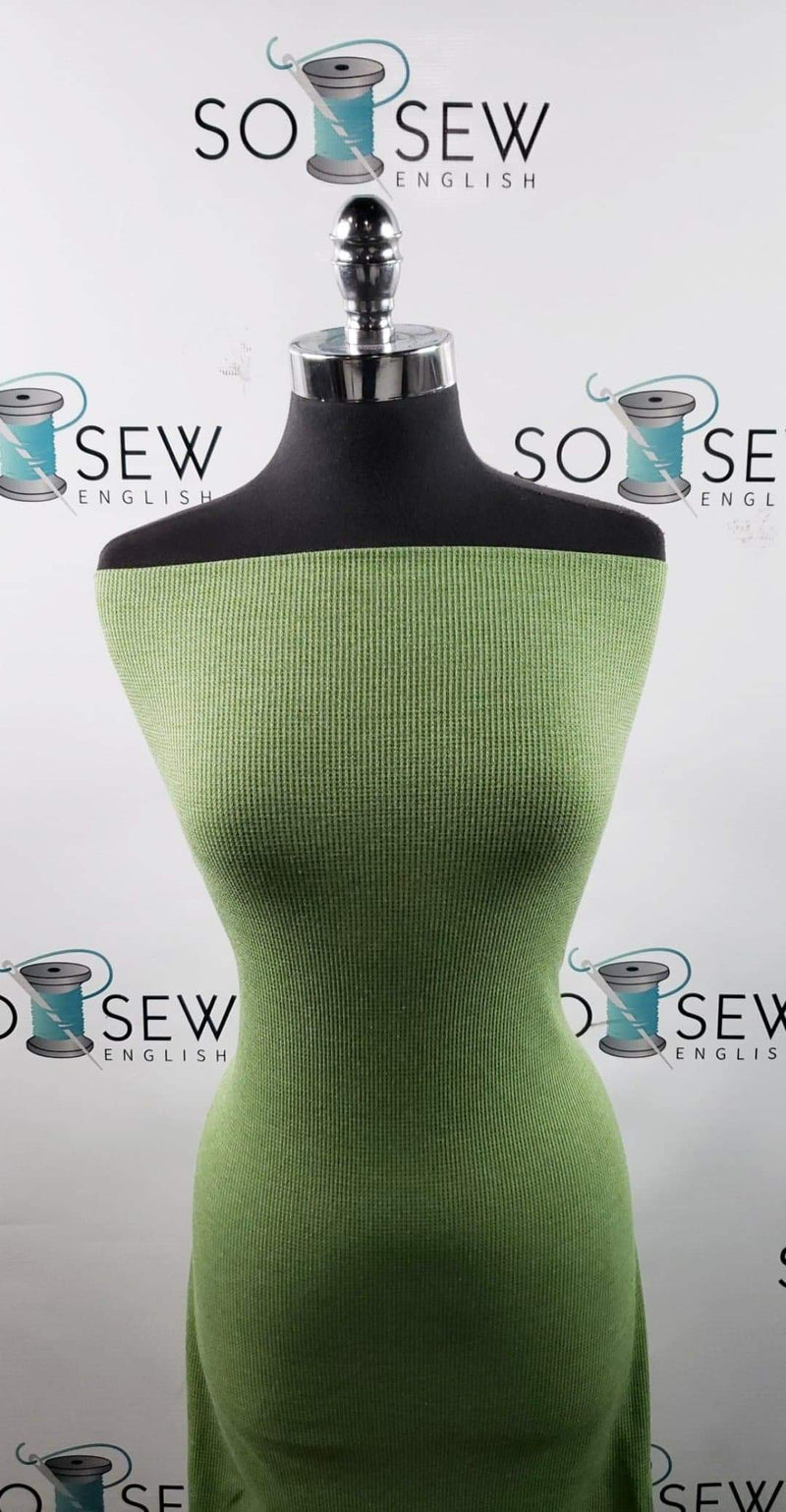 Solid Apple Green -Thermal Knit - By the yard