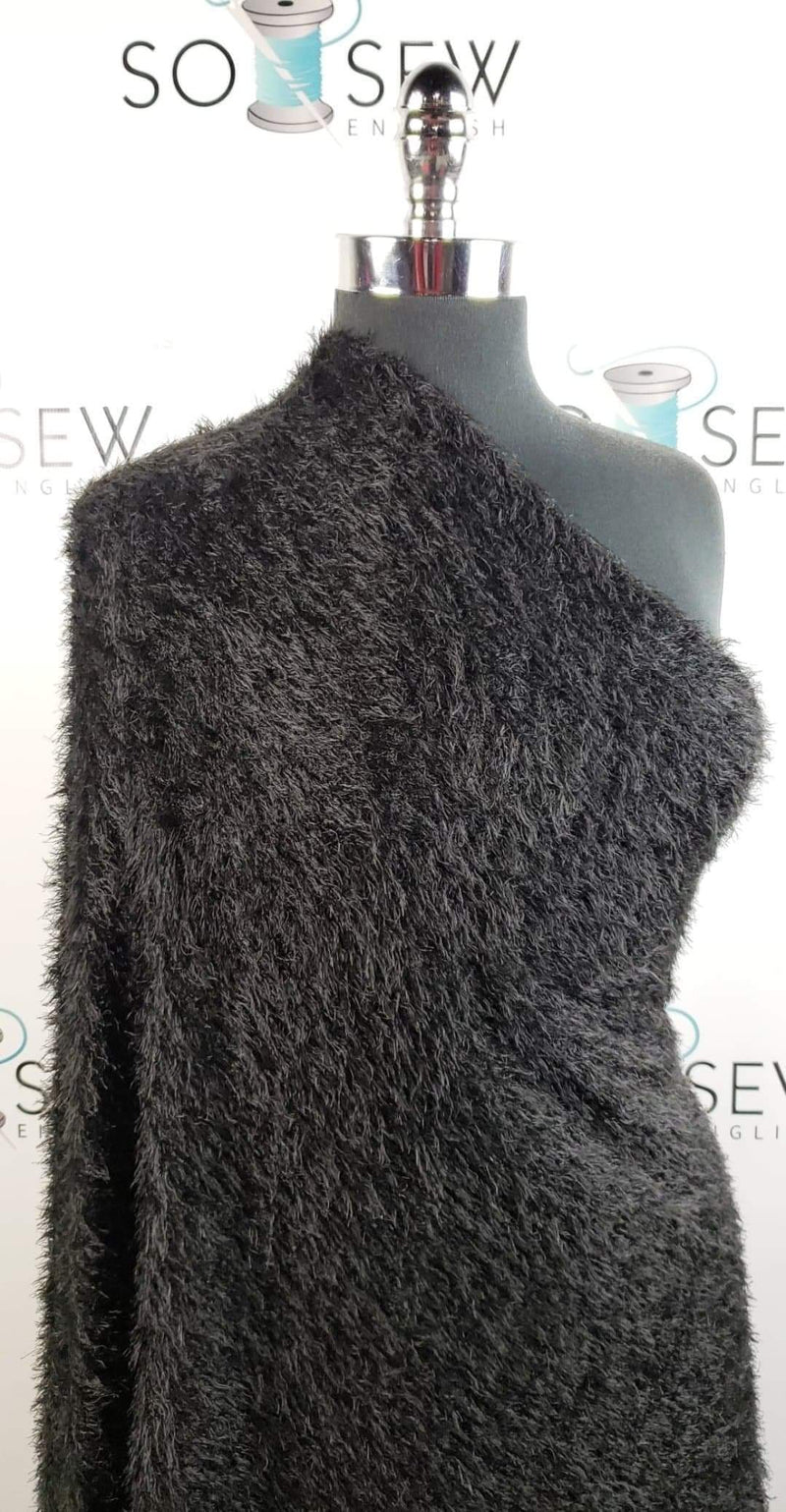 "Black ""Mohair"" -Sweater Knit- By The Yard"